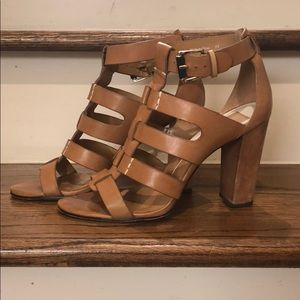 Dolce Vita tan leather block heels size 8.5